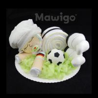 Mawigo Windel-Fußball-Baby Windeltorte