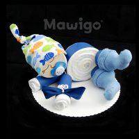 Mawigo Windeltorte Windelbaby dunkelblau Fische