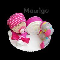 Mawigo Windelgeschenk Windelbaby pink Punkte