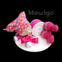 Mawigo Windelgeschenk Windelbaby pink Tukan