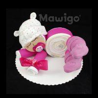 Mawigo Windelgeschenk Windelbaby pink Öhrchen