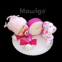 Mawigo Windelgeschenk Windelbaby pink Blümchen