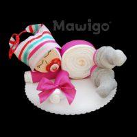 Mawigo Windelgeschenk Windelbaby pink-grau