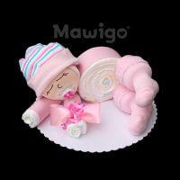 Mawigo Windelgeschenk Windelbaby rosa Streifen