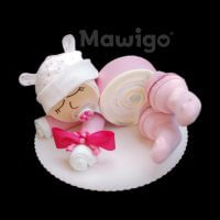 Mawigo Windelgeschenk Windelbaby rosa Ohren