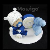 Mawigo Windeltorte Windelbaby blau Sternchen