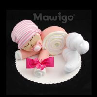 Mawigo Windelgeschenk Windelbaby rosa Mädchen