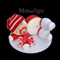 Mawigo Windeltorte Windelbaby rot neutral