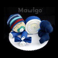 Mawigo Windeltorte Windelbaby dunkelblau Streifen