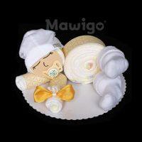 Mawigo Windeltorte Windelbaby gelb neutral