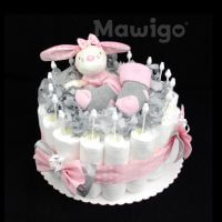 Mawigo Windeltorte Windelkuchen Hase rosa