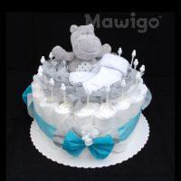 Mawigo Windeltorte Windelkuchen Nilpferd