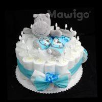 Mawigo Windeltorte Windelkuchen Nilpferd grau