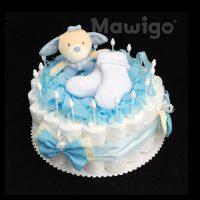 Mawigo Windeltorte Windelkuchen Hase blau