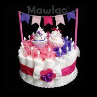 Mawigo Windeltorte Mädchen Windelkuchen Muffin Wimpelkette