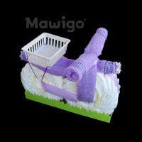 Mawigo Windeltorte Windelmotorrad lila violett