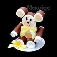 Mawigo Windelbär gelbe Schleife