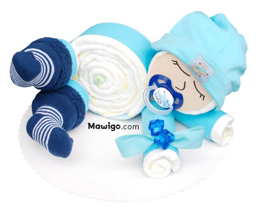 Mawigo Windeltorte Windelbaby blau Hauptmotiv