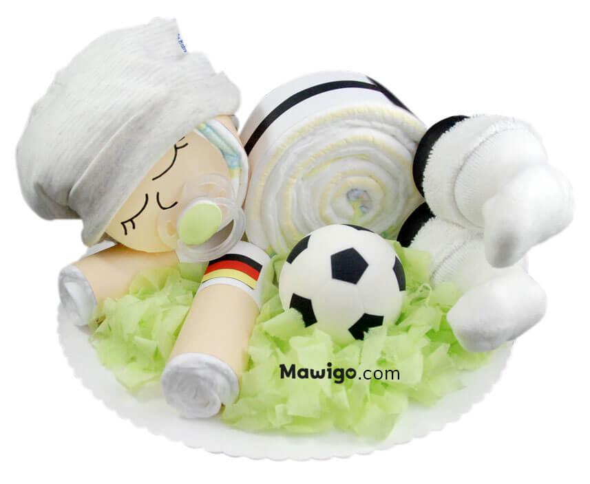 Mawigo Windelgeschenk Windel-Fußball-Baby