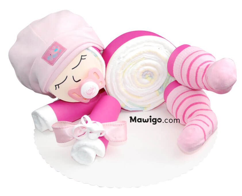 Mawigo Windelgeschenk Windelbaby pink rosa Hauptmotiv