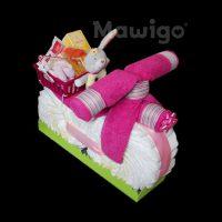 Mawigo Windeltorte Windelmotorrad pink Baby Accessoires