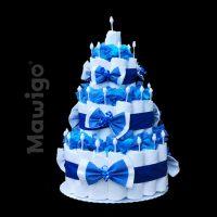 Mawigo Windelgeschenk klassische Windeltorte dunkelblau