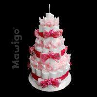 Mawigo Windelgeschenk klassische Windeltorte rosé
