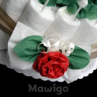 Mawigo Windelgeschenk Windelrosentorte Rose Deko