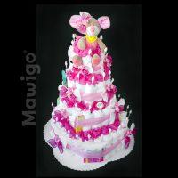 Mawigo Windelgeschenk Windeltorte XXL pink