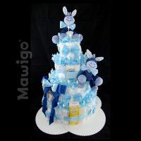 Mawigo Windelgeschenk Windeltorte XXL blau