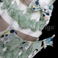 Mawigo Windelgeschenk Windeltorte mit Wimpelkette Detail