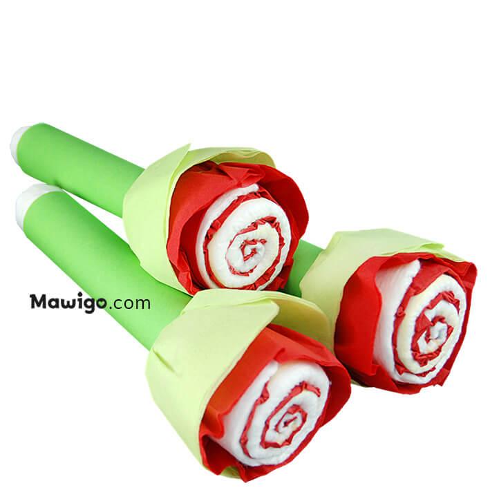 Mawigo Windeltorte Windelblumen Rose Hauptmotiv
