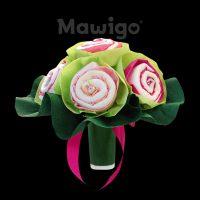 Mawigo Windeltorte Windelblumenstrauß für Mädchen