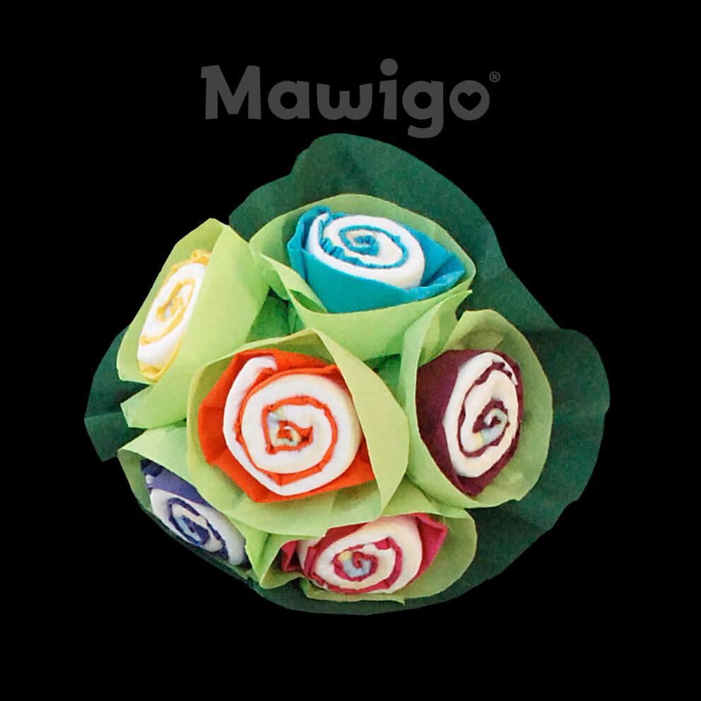 Mawigo Windeltorte Windelblumenstrauß neutral bunt