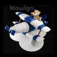 Mawigo Windeltorte Windelflugzeug groß blau