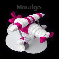 Mawigo Windeltorte pinkes Windelflugzeug groß
