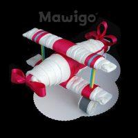 Mawigo Windeltorte Windelflugzeug groß pink