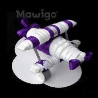 Mawigo Windeltorte Windelflugzeug groß lila