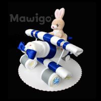 Mawigo Windeltorte Windelflugzeug klein Hase