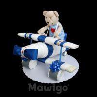 Mawigo Windeltorte Windelflugzeug klein Bär