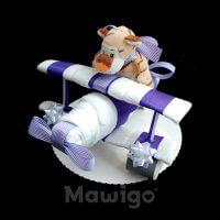 Mawigo Windeltorte Windelflugzeug klein lila