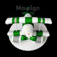 Mawigo Windeltorte Windelflugzeug klein grün