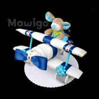 Mawigo Windeltorte kleines Windelflugzeug blau Maus