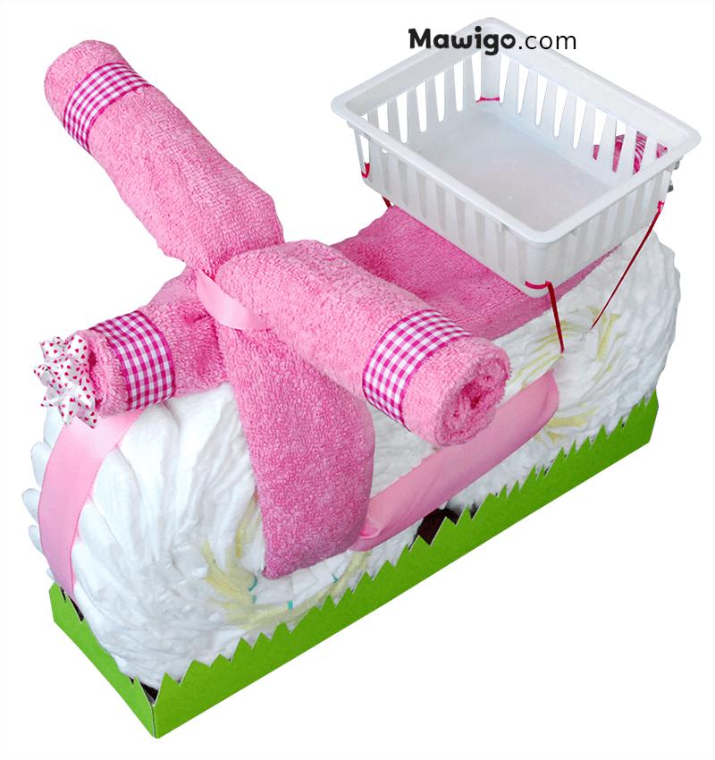 Mawigo Windeltorte Windelmotorrad rosa Hauptmotiv