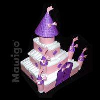 Mawigo Windeltorte Windelschloss violett
