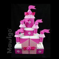 Mawigo Windeltorte Windelschloss Mädchen pink