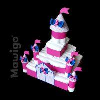 Mawigo Windeltorte Windelschloss pink blau