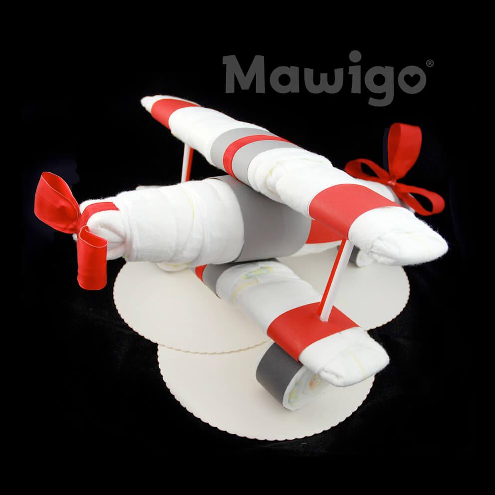 Mawigo Windeltorte Windelflugzeug groß rot