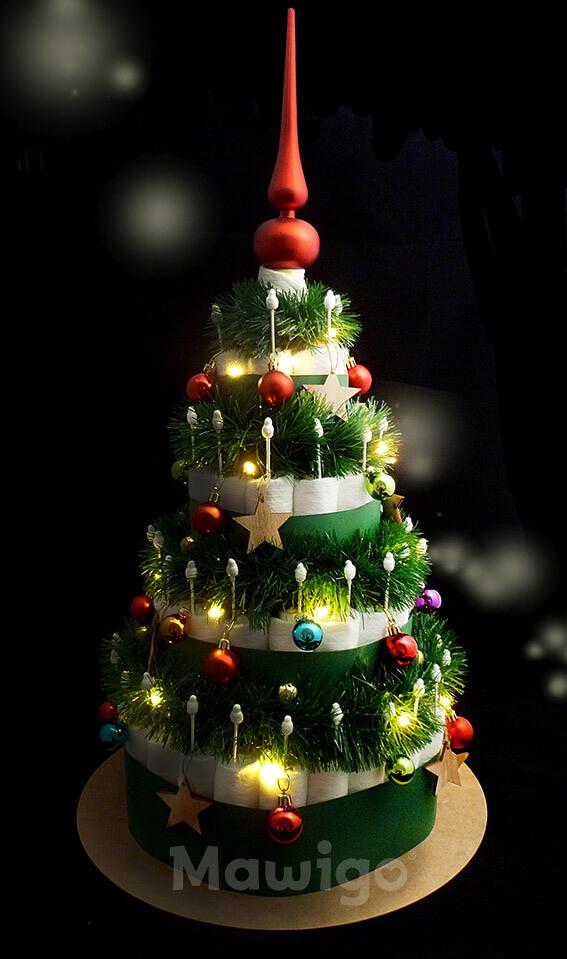 Mawigo Windeltorte Windelweihnachtsbaum LED