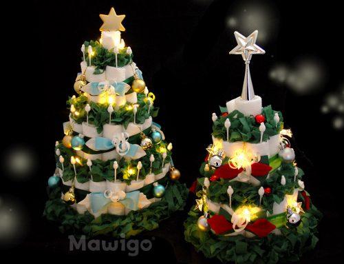 Windelweihnachtsbäume zum Fest